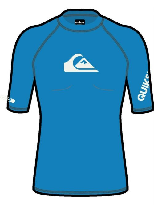 QUIKSILVER MENS RASH VEST.NEW ON TOUR UPF50+ BLUE TOP RASHGUARD T SHIRT S20 230